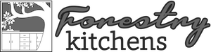 Forestry Kitchens logo for footer grayscale