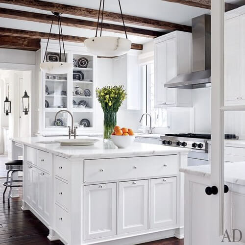 All White Kitchen And White Kitchens Ideas For Embellishing Kitchen In Your Home With Some Bewitching Art Objects 40