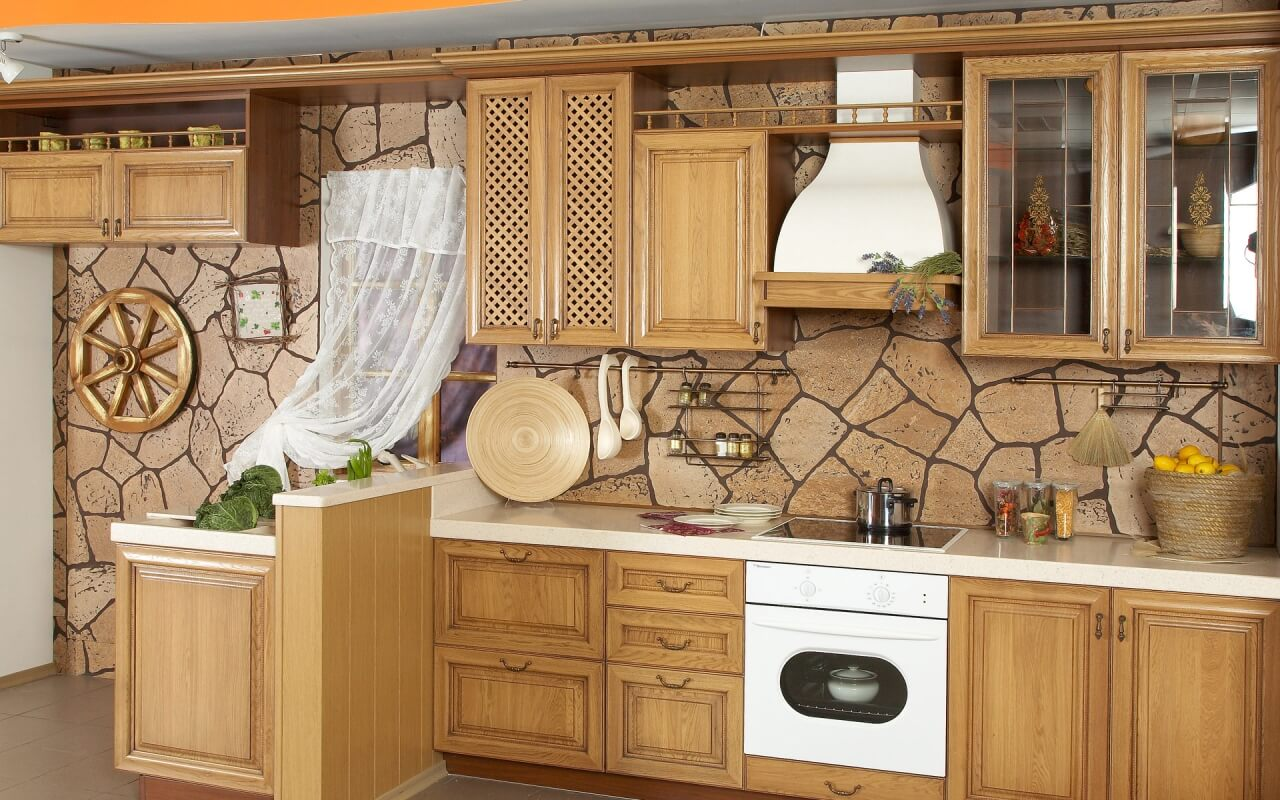 Small Stone Kitchen Design 616
