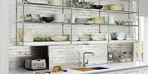 Vintage Open Kitchen Cabinets