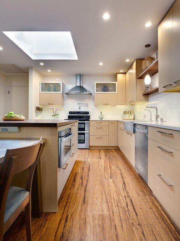 Modern Kitchen Flooring Bamboo Flooring Kitchen Remodel Ideas