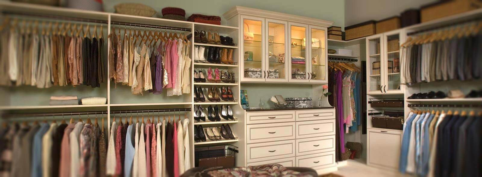 Walk In Custom Closet Antique White South Carolina 1 1