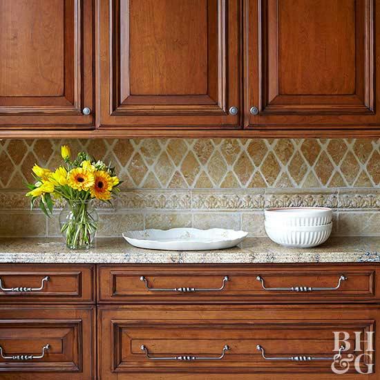 Kitchen Countertop And Backsplash Combinations: Organizing A Small Kitchen Ideas From Leonard Blandon