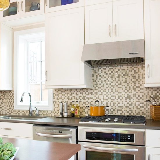Attractive When Kitchen Cabinetry Is Unadorned And Relatively Easy, You Can Readily  Pick For More Pattern On The Backsplash. The Backsplashu0027s Neutral Colors  Also Mix ...