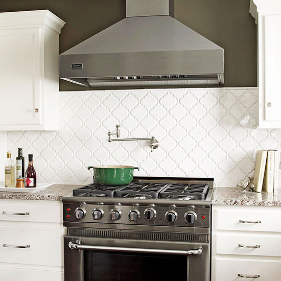 The Clean White Tiles Give Interest To The Kitchen Without Competing With  The Granite Countertops.